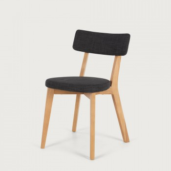 Duvall Fabric Dining Chair, Charcoal