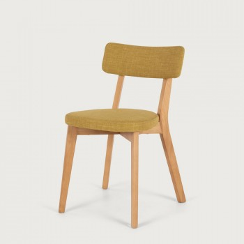 Duvall Fabric Dining Chair, Jewelled Yellow